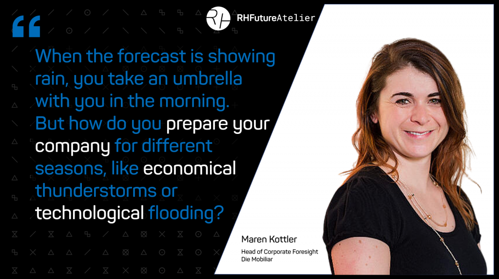 When the forecast is showing rain, you take an umbrella with you in the morning. But how do you prepare your company for different seasons, like economical thunderstorms or technological flooding?