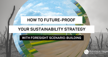 Building a sustainability strategy? Future-proof it with these four scenarios.